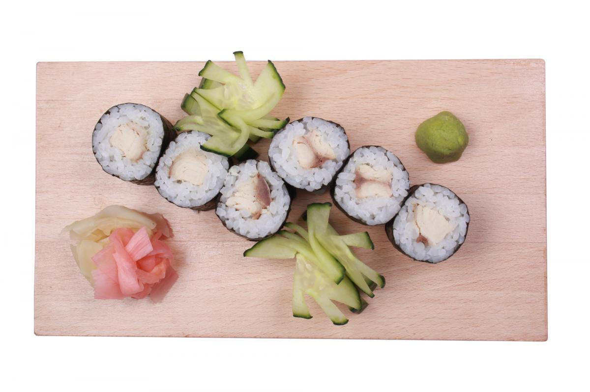 marinated mackerel hosomaki
