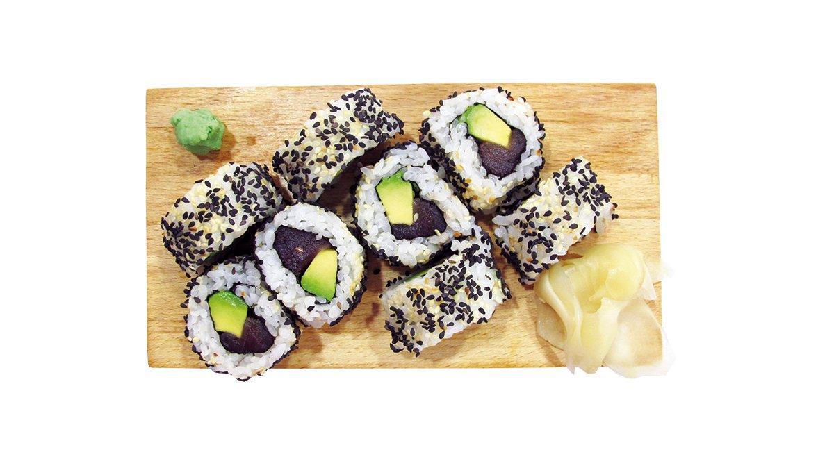 Tuna-avocado maki